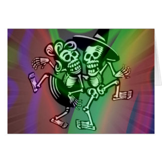 deja la danza colorida tarjeta