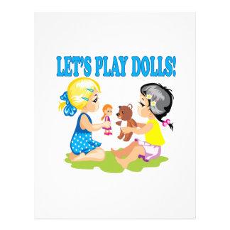 Deja las muñecas del juego folleto 21,6 x 28 cm