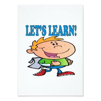 Deja para aprender 3 invitación 12,7 x 17,8 cm