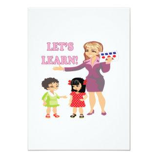 Deja para aprender 4 invitación 12,7 x 17,8 cm