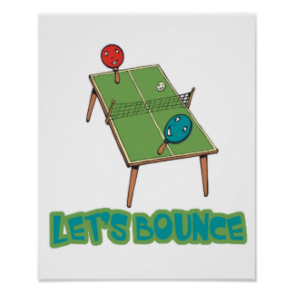 Deja tenis de mesa del ping-pong de la despedida póster