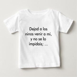 Dejad un venir de los ninos del los al MI, y Camiseta Para Bebé