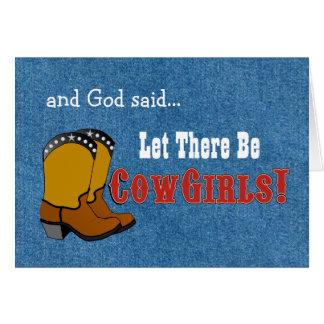 Dejado haya tarjeta de cumpleaños de las vaqueras