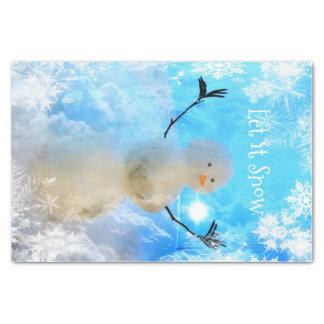 Dejado lo papel seda del Nieve-man