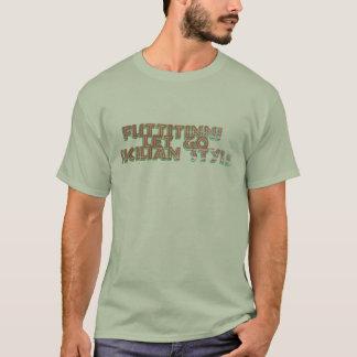 Dejado va la camiseta retra del estilo siciliano