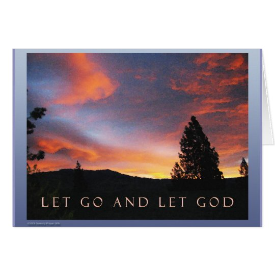 Dejado vaya dejar la salida del sol de dios tarjeta de felicitación
