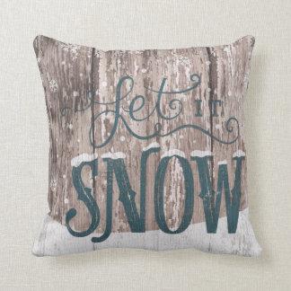 Dejáis le nevar almohada de tiro del invierno del