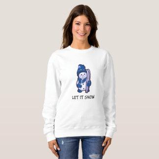 Dejáis le nevar camiseta del muñeco de nieve lista