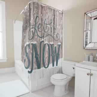 Dejáis le nevar cortina del cuarto de baño de la
