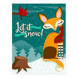 ¡Dejáis le nevar! Fox y postal del día de fiesta