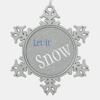 Dejáis le nevar ornamento adorno de peltre en forma de copo de nieve