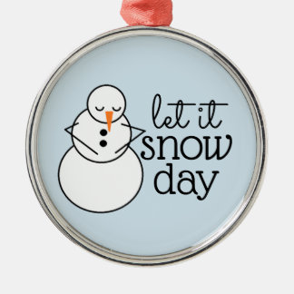 Dejáis le nevar ornamento del navidad del día