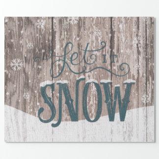 Dejáis le nevar papel de embalaje del día de papel de regalo