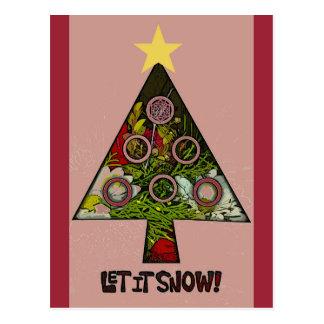 Dejáis le nevar postal de la estación de