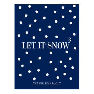 Dejáis le nevar postal del día de fiesta del