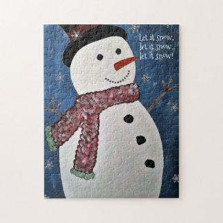 Dejáis le nevar rompecabezas del muñeco de nieve