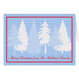 Dejáis le nevar tarjeta de Navidad del día de