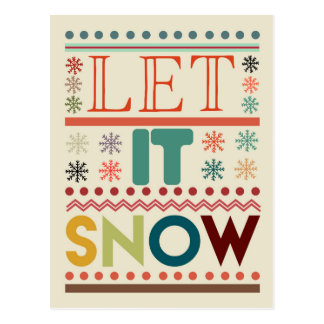 Dejáis le nevar tarjeta de Navidad Postal