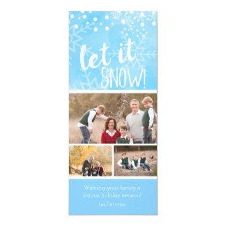 Dejáis le nevar tarjeta del día de fiesta de la invitación 10,1 x 23,5 cm