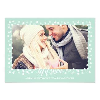 Dejáis le nevar tarjeta moderna de la foto del día invitación 12,7 x 17,8 cm