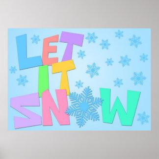Dejáis le nevar texto en el poster del fondo de lo