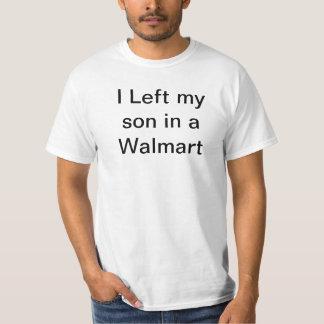 Dejé a mi hijo en una camiseta de Walmart