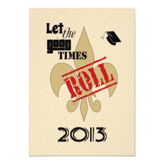 Deje al buen fiesta de la graduación 2013 del invitación 12,7 x 17,8 cm