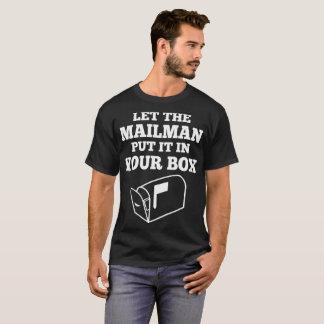 Deje al cartero ponerlo en su camiseta de la caja