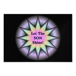 Deje al hijo brillar invitación 8,9 x 12,7 cm