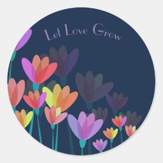 """""""Deje el amor crecen"""" al pegatina del favor de la"""