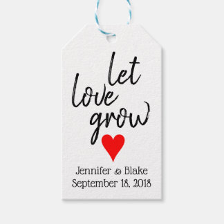 Deje el amor crecer la etiqueta adaptable del