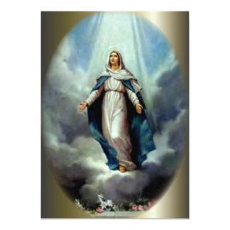 Deje el brillo ligero perpetuo sobre Virgen María Invitación 12,7 X 17,8 Cm