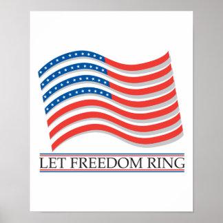 Deje la bandera del anillo de la libertad impresiones