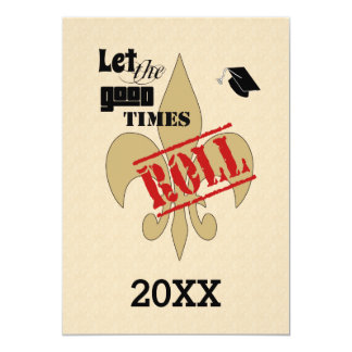 Deje la buena fiesta de graduación del rollo de invitación 12,7 x 17,8 cm