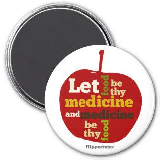 Deje la comida ser thy medicina… Hipócrates Imán