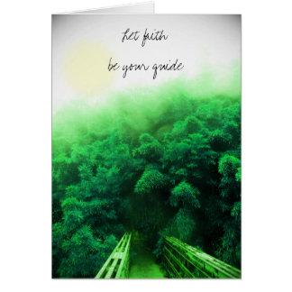"""""""Deje la fe ser tarjeta de su guía"""" - bosque de"""