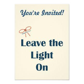 Deje la luz en recordatorios comunicado personal