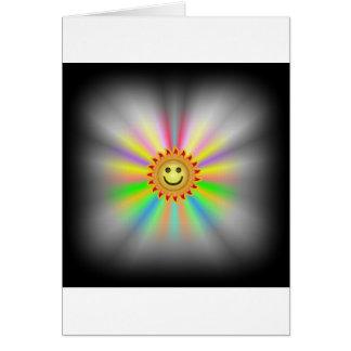 Deje la luz hacia fuera tarjeta de felicitación