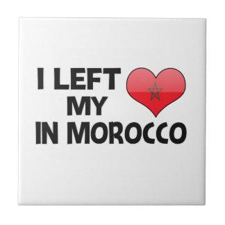 Dejé mi amor en Marruecos Azulejo Cuadrado Pequeño