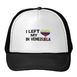 Dejé mi amor en Venezuela Gorros