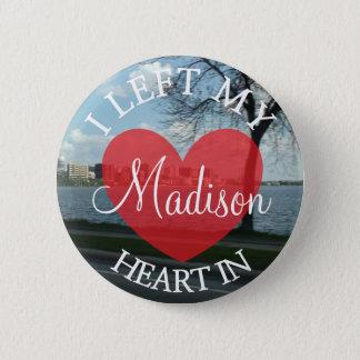 Dejé mi corazón en el botón de Madison Wisconsin