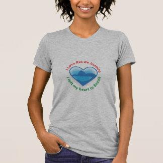 Dejé mi corazón en el Brasil - amor Río de Janeiro Camisetas