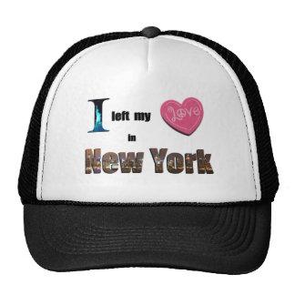 Dejé mi corazón en Nueva York - ame el gorra del