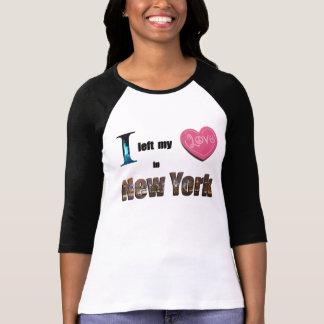 Dejé mi corazón en nuevo regalo de los objetos de camiseta