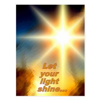 Deje su diseño ligero de la luz del sol del postal