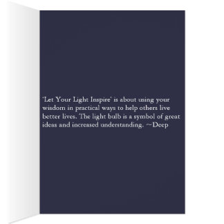 Deje su luz inspirar tarjeta