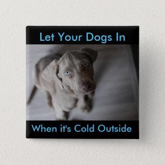 Deje sus perros adentro, cuando es botón exterior