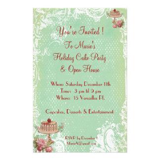 Déjelos comer invitaciones del fiesta de la torta folleto 14 x 21,6 cm