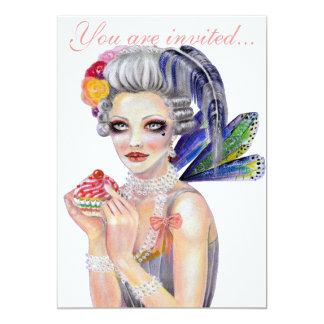 Déjelos comer la magdalena invitación 12,7 x 17,8 cm