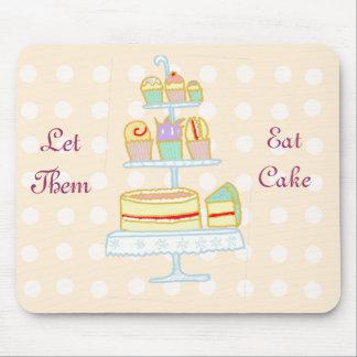 Déjelos comer la torta tapete de raton